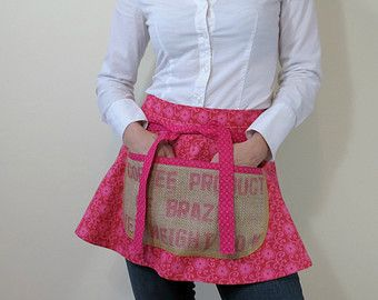 upcycled burlap coffee bags | Sorry, this item sold. Have BackAlleyChic make something just for you ...