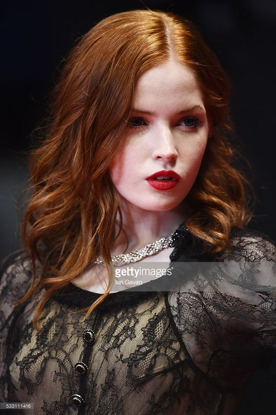 Ellie Bamber in Chanel | Beauty at Cannes Film Festival, 2016.