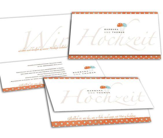 Hochzeitseinladungen - Glückspilz(e)