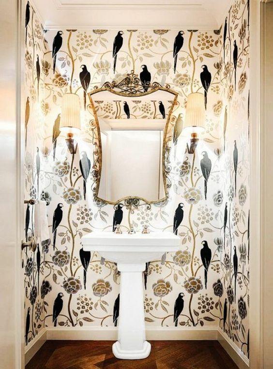 Tapeten Ideen Fur Eine Ausgefallene Wandgestaltung Toiletten Tapete Zimmer Tapete Tapeten