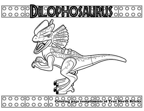 Coloring Lego Jurassic World