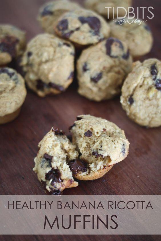 Healthy Banana Ricotta Muffins