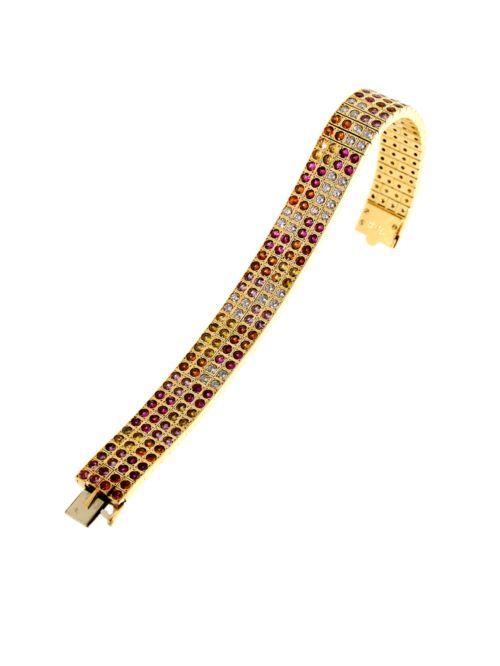 cartier lanieres diamond sapphire bracelet 2