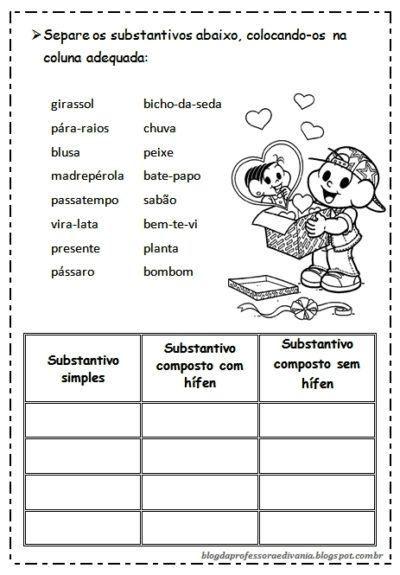 Atividades Sobre Separacao Dos Substantivos Substantivo