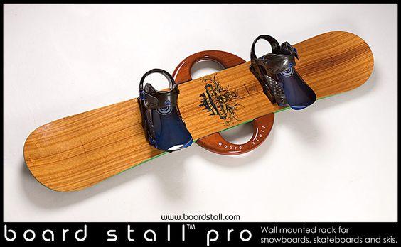 Board Stall Pro rack with snowboard www.boardstall.com Board Stall ...