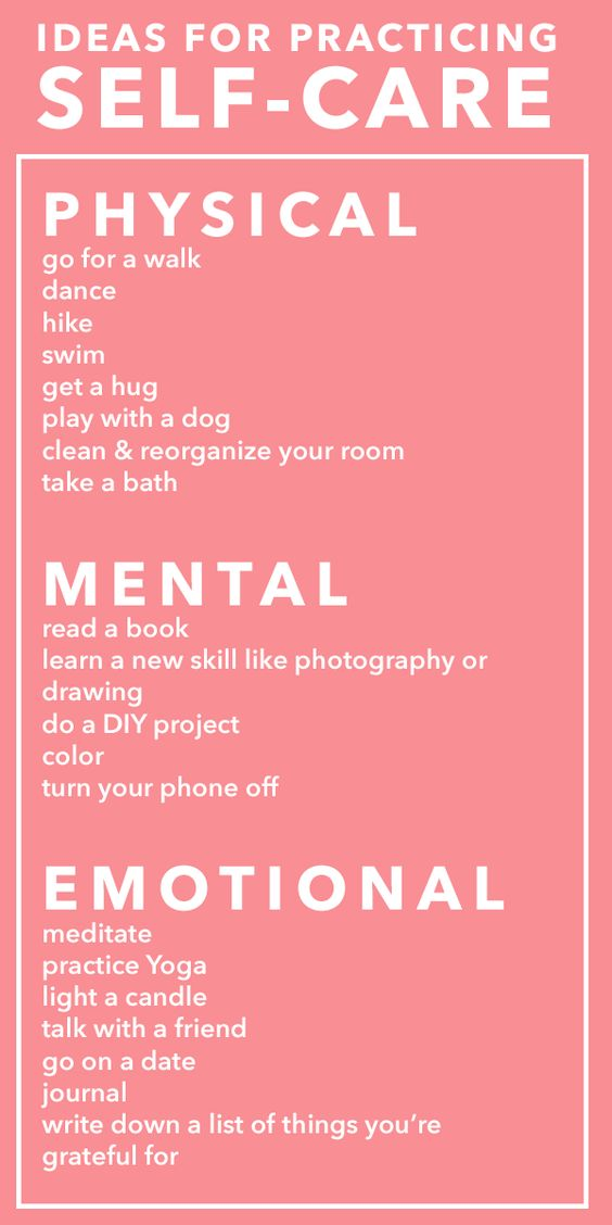 Self Care Ideas For Physical, Mental & Emotional Health