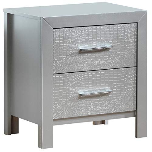 Glory Furniture G4200 N 2 Drawer Nightstand Silver Champagne Furniture 2 Drawer Nightstand Drawer Nightstand