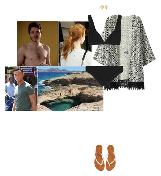 """Going swimming in the natural pools of Ano Koufonisi with Gustaf and James and asking him about his girlfriend"" by hrhprincessamelia ❤ liked on Polyvore featuring Chicnova Fashion, Zimmermann, Tiffany & Co., Aéropostale and Monique Lhuillier"