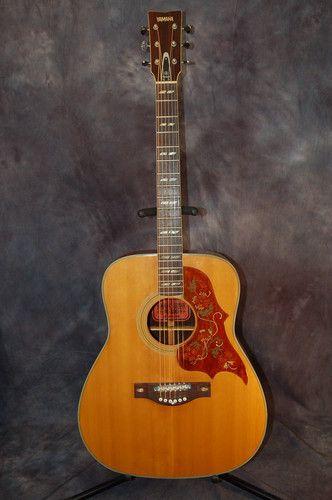 Vintage rare 1971 yamaha fg 300 acoustic jumbo guitar for Yamaha acoustic guitar ebay