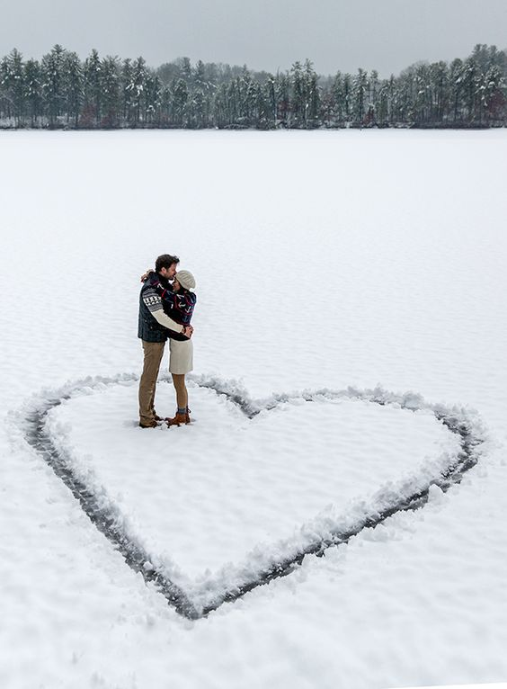 Snow makes the prettiest (and sweetest!) pictures.