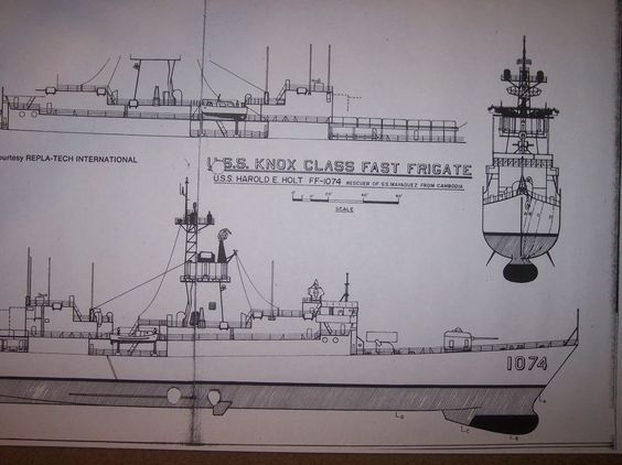 ship plans FF1074  H E HOLT  #q