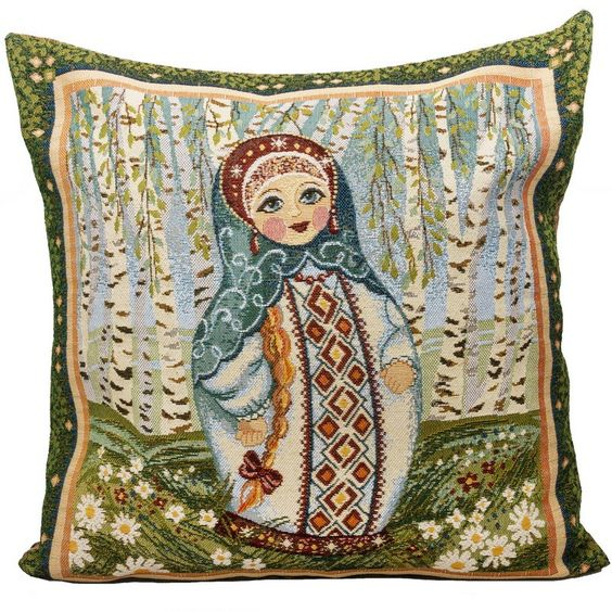 Nesting Doll Decorative Tapestry Throw Pillow