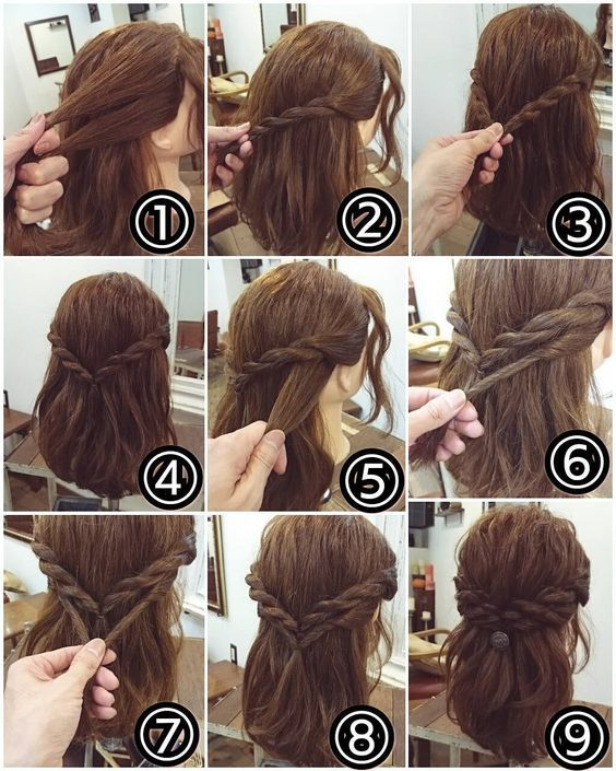14 Stylish Easy Hairstyles Step By Step Diy Bafbouf Hair Styles Short Hair Styles Hair Arrange