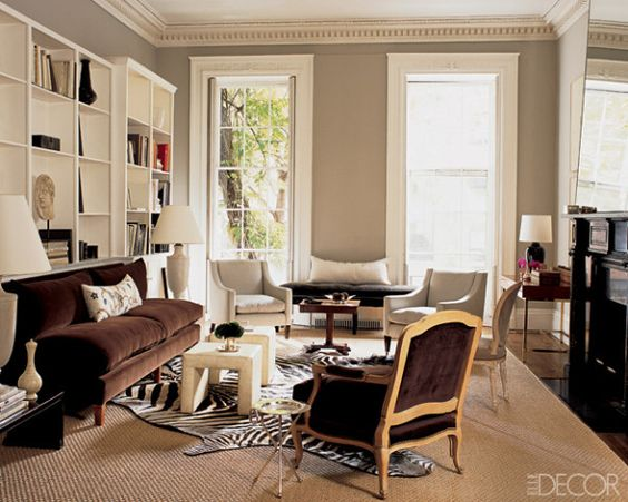 Furniture sisal rugs and new york on pinterest for Living room ideas with zebra rug