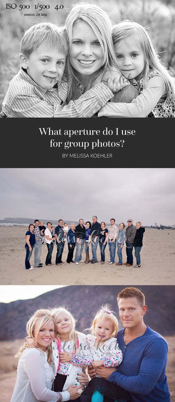 What aperture do I use for group photos?