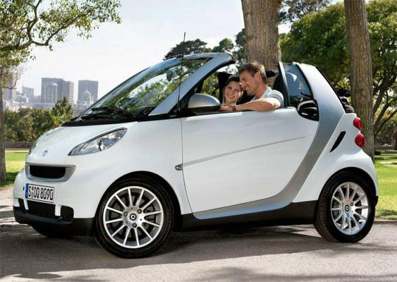 a Smart convertible