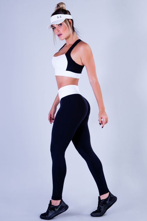 Calça Legging Feminina Preta Challenge