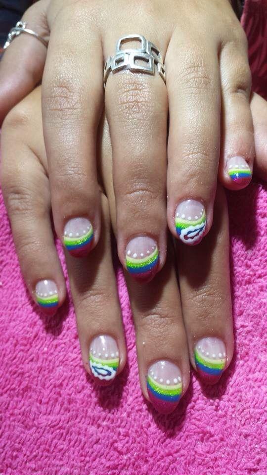 Mejores 22 imágenes de Mes Ongles en gel en Pinterest   Uñas de gel ...