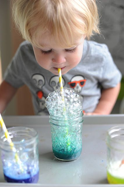 Rust & Sunshine: Bubble Painting.  Visit pinterest.com/arktherapeutic for more #oralmotor games and activities