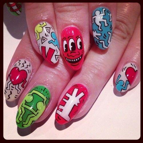 nailsalonavarice:  Keith Haring art nails #avarice #art #kayo #design #nails #nailart #nailsalon #Keithharing (NailSalon AVARICE)