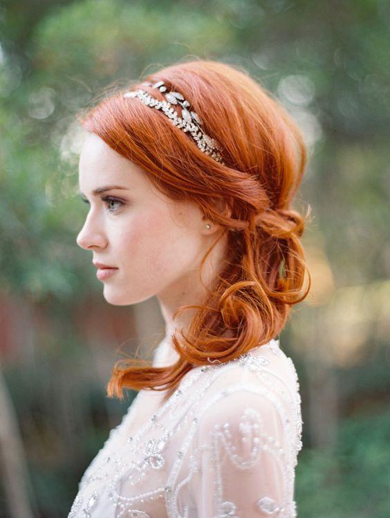18 inspirações de beleza para noivas ruivas - Salve a Noiva