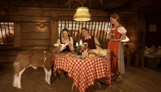 """Stangelwirt restaurant with """"cow window"""""""
