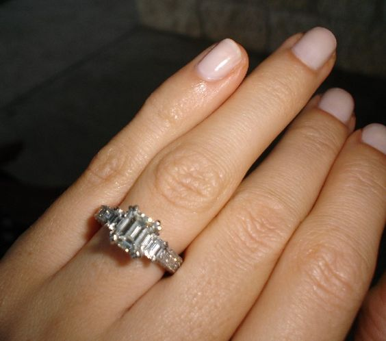 emerald cut 1 5ct with emerald cut baguettes and small