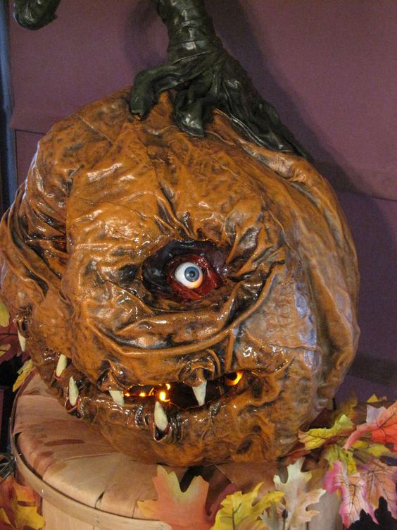 Papier mache jack o lantern i want papier mache and decor for Papier mache lanterns