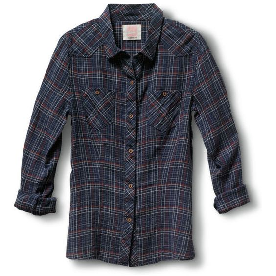 Open Road Plaid Shirt (81 BRL) ❤ liked on Polyvore featuring tops, shirts, flannels, guys, plaid shirts, 3/4 sleeve tops, blue plaid shirt, 3/4 sleeve shirts and button down shirts