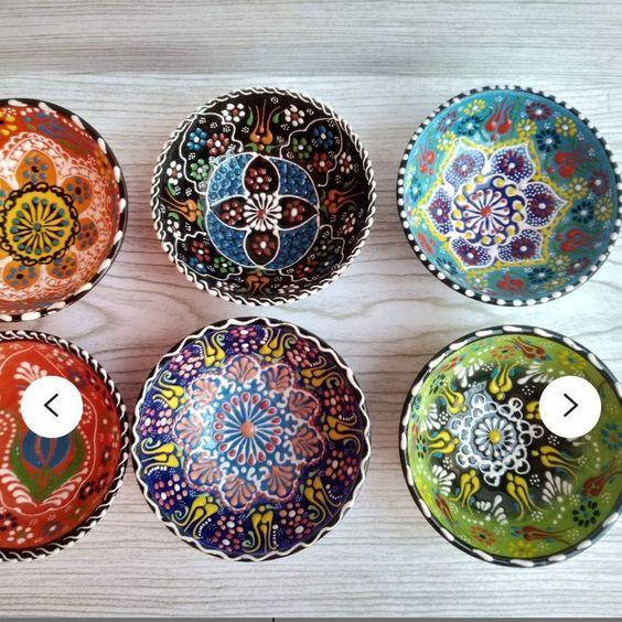 15 cm 6x Turkish Ceramic Bowls Set Meze Bowl Set 5,90 Inch Ceramic Bowl Set,Turkish Bowl Set