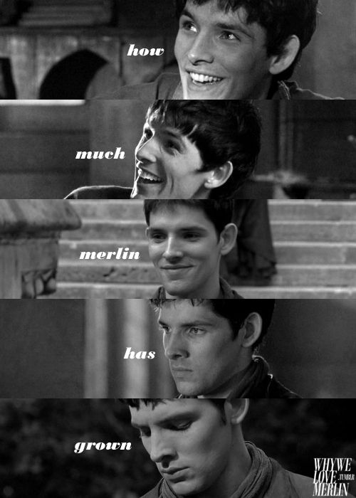 How much Merlin has grown. And you can see his burdens growing with each season.