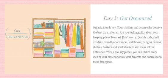 get organized.