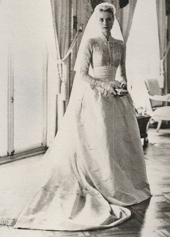 Image result for grace kelly wedding