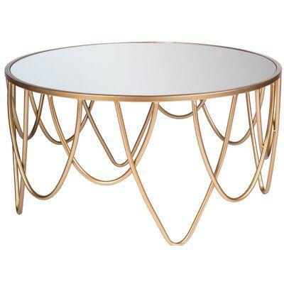 Everly Quinn Pakswith Coffee Table Wayfair Mirrored Coffee Tables Coffee Table Display Coffee Table
