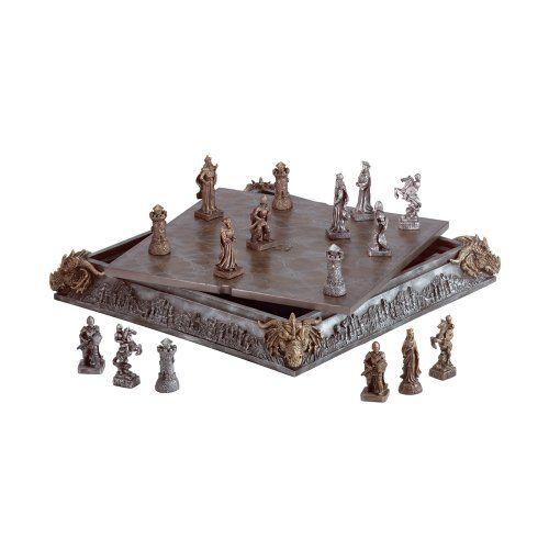 Medieval Knight Dragon Battle Carved Chess Game Set Sunshine Megastore http://www.amazon.com/dp/B000NU2ZDW/ref=cm_sw_r_pi_dp_IxFkvb0QJ9XK2