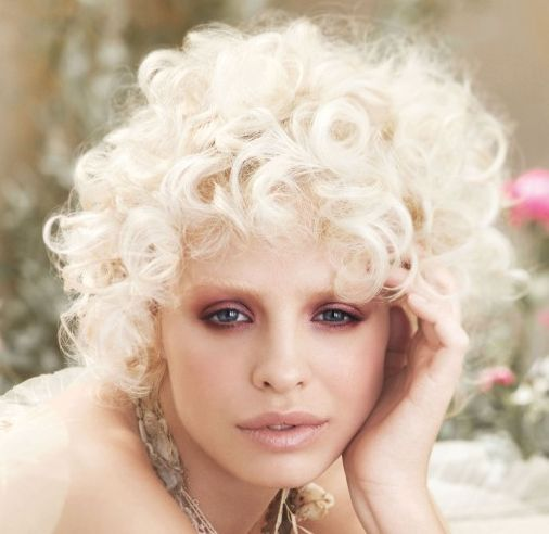 platinum blonde curly hair | ... platinum blonde hair is ...