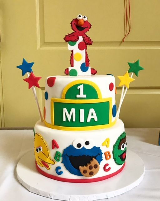 Marvelous We Love This Sesame Street Cake Featuring Elmo Big Bird Cookie Personalised Birthday Cards Paralily Jamesorg