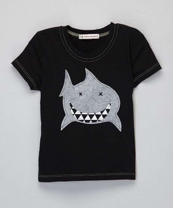 This Million Polkadots Black Shark Tee - Infant, Toddler & Boys by Million Polkadots is perfect! #zulilyfinds