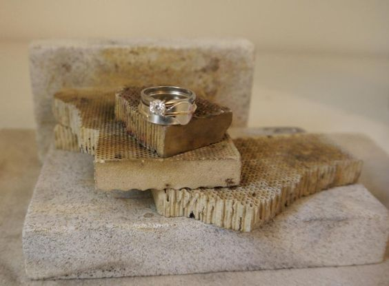 Fab friend and Scottish jewellery designer Karen Purvis was trying out the gorgeous leaf ring as a wedding band using her own engagement ring. Love it!