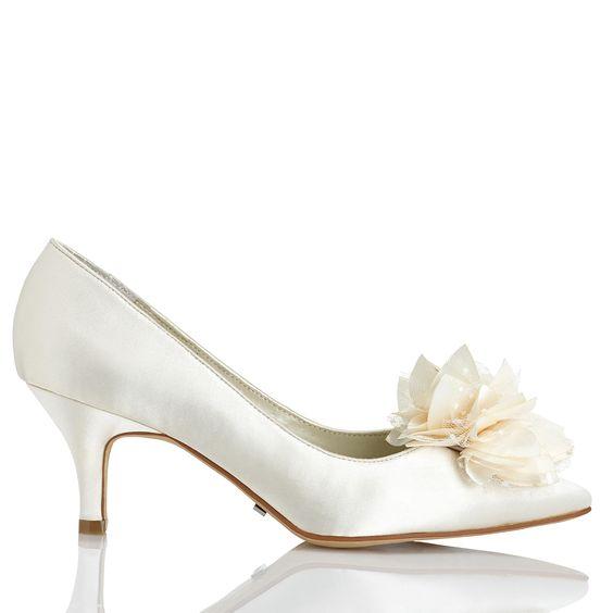 zapatos de novia bajos ¿cuál usarías?