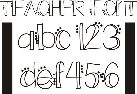 Teach Junkie26 Free Fonts for Teachers » Teach Junkie