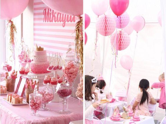 Pinkalicious princess pink birthday party via www.KarasPartyIdeas.com