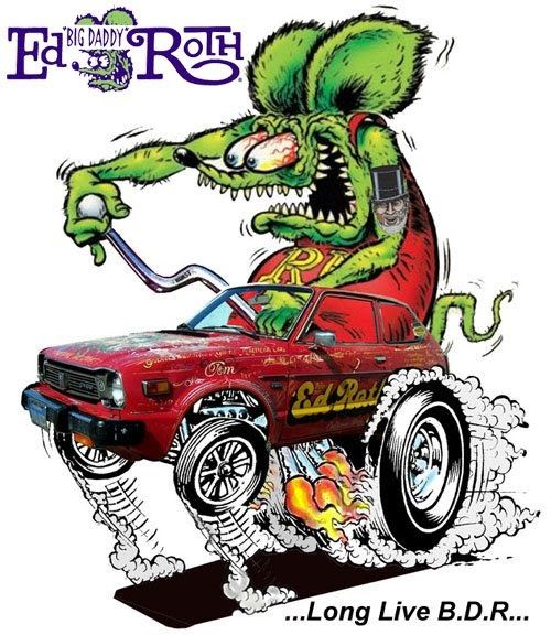 Hey Gang!!! Here's a couple cool pieces of fan art Jack Lister sent to me. Pretty boss-looking art!!! A little Rat Fink PhotoShop magic and...