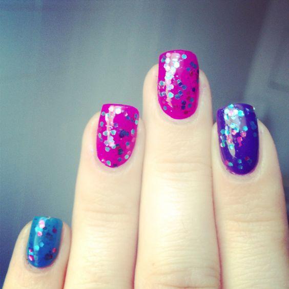 Nails opi glitters polkadot