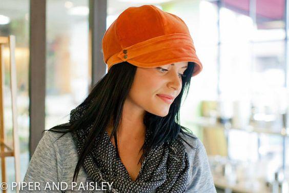Gillian Hat Womens Newsboy Cap in Rustic Orange by piperandpaisley, $45.00