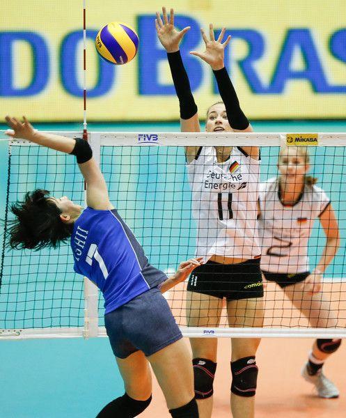 Yuki Ishii And Louisa Lippmann Photos Photos Fivb Volleyball Nations League 2018 Barueri Volleyball League Louisa