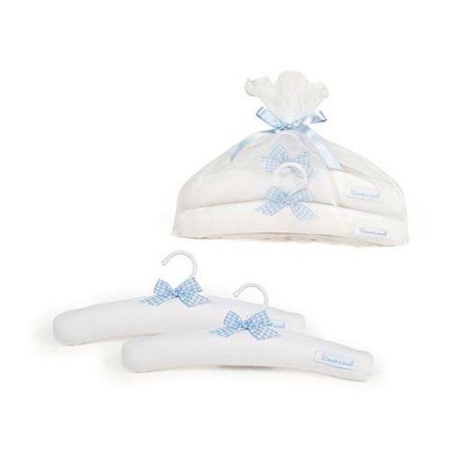 Set de 2 perchas para armario en azul set de 2 perchas - Perchas madera bebe ...