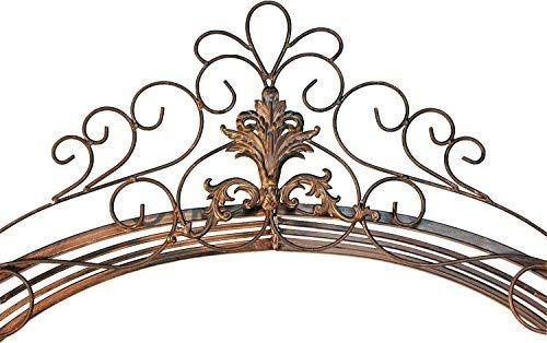 Dandibo Ambiente 120853 Arche A Roses En Fer Forge Avec Portail 265 X 190 Cm Amazon Fr Jardin Ceiling Lights Chandelier Ceiling