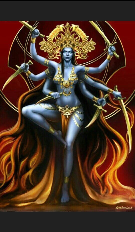 Pin De Pio En Kali Diosa Kali Dioses Hindues Dioses Indues