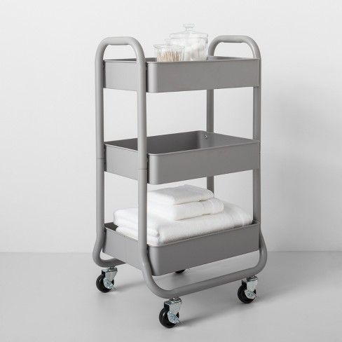 3 Tier Metal Utility Cart Made By Design Utility Cart Made By Design Rolling Cart